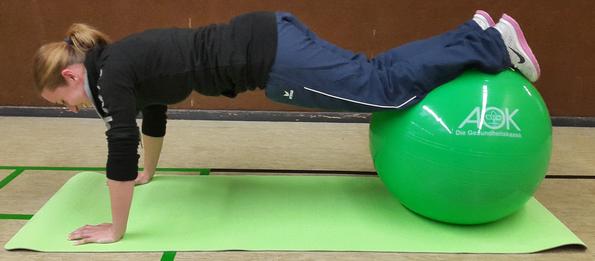 Gymnastikball aok Übernimmt die